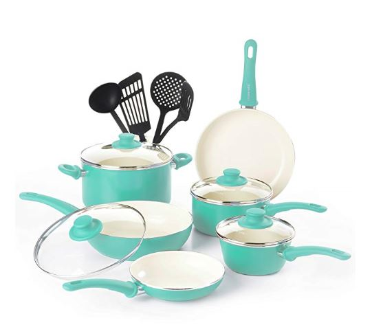 Ceramic Camping Pots and Pans Set